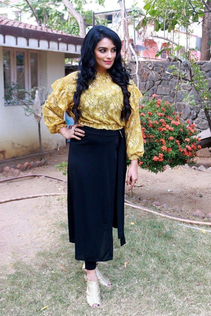 Actress Shweta Menon Stills At Movie Audio Release