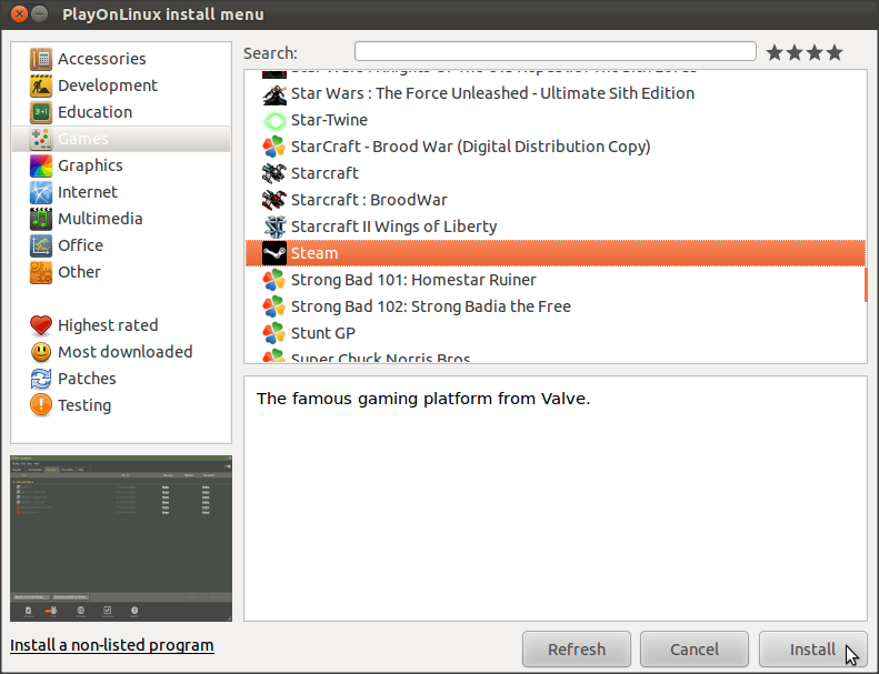 How To Install And Run Steam Under Ubuntu 11 10/11 04