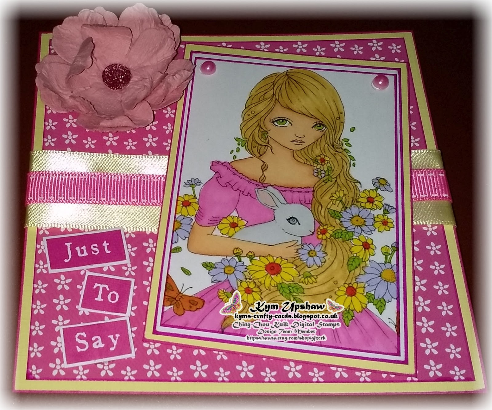 Kym S Crafty Cards Ching Chou Kuik Digital Stamps March