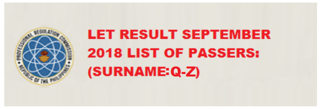 81c8860e1501c September 2018 LET Result - Secondary Level (Q-Z)