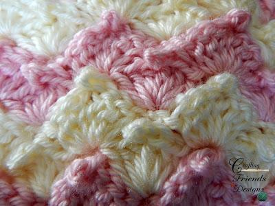 Peaked Shell Afghan Crochet Pattern