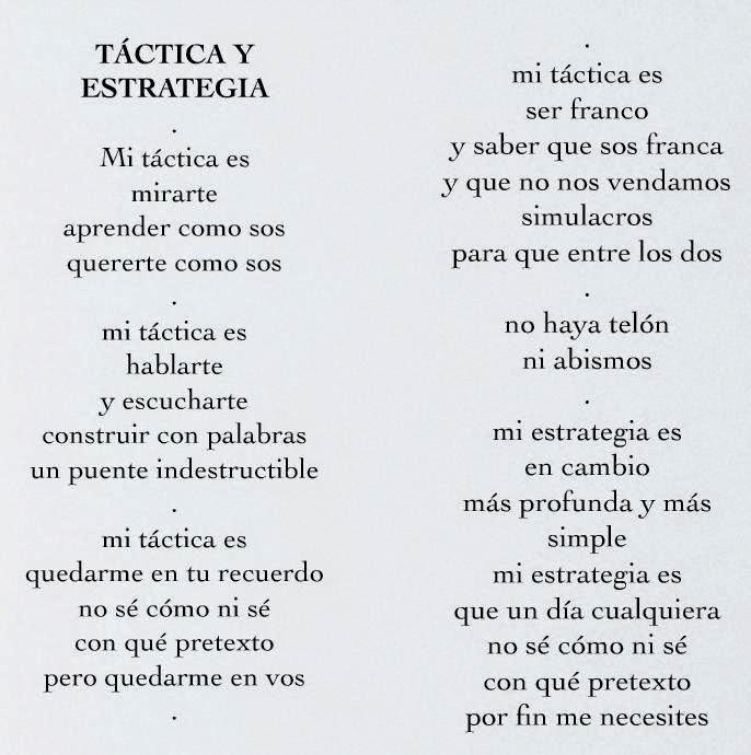 En Tiempo De Vacas Flacas Táctica Y Estrategia Un Poema