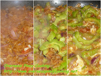 Ginisang Ampalaya with Daing na Alamang - Cooking Procedure