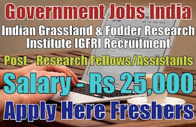 IGFRI Recruitment 2019