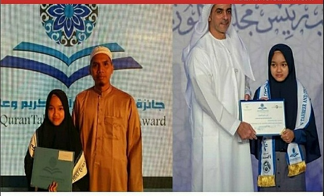 Hasna Mengharumkan Nama Indonesia dengan menjadi Juara Tilawah di Abu Dhabi