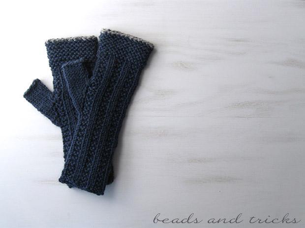 Guanti senza dita lavorati a maglia