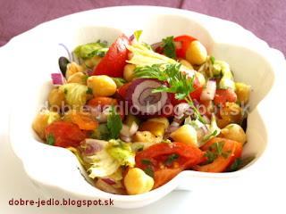Cícerovo-paradajkový šalát - recepty