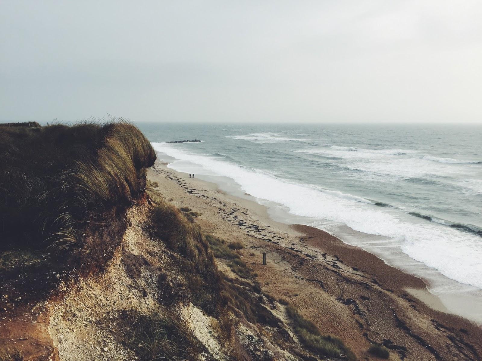 A craggy coastline
