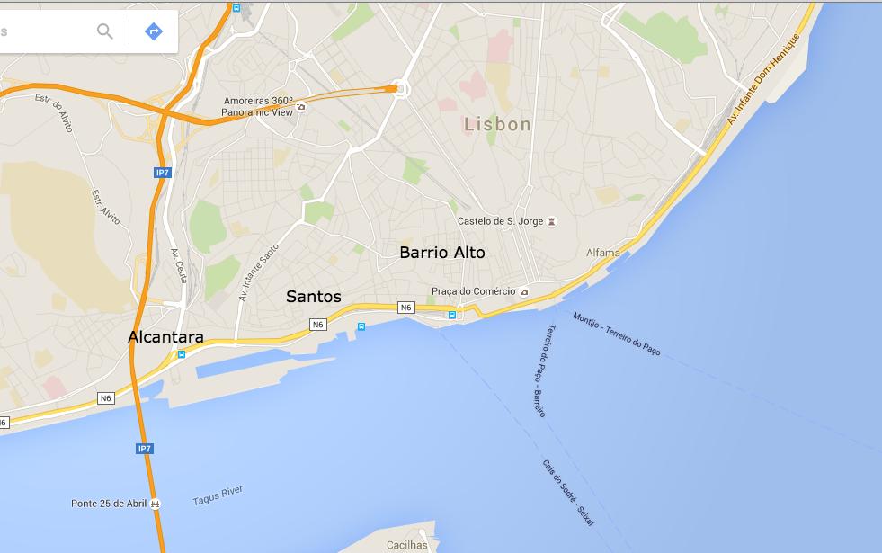 Johnnys Guide To Lisbon Portugal For Digital Nomads JohnnyFD - Lisbon portugal neighborhoods map