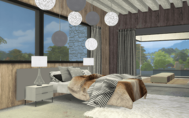 chambre luxe sims 4