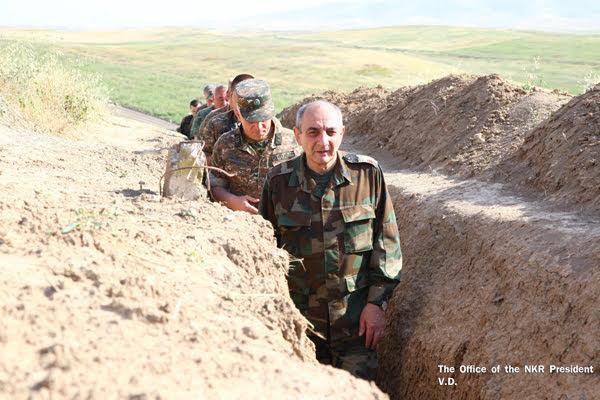 El presidente de Artsaj se reunió con el alto mando del Ejército