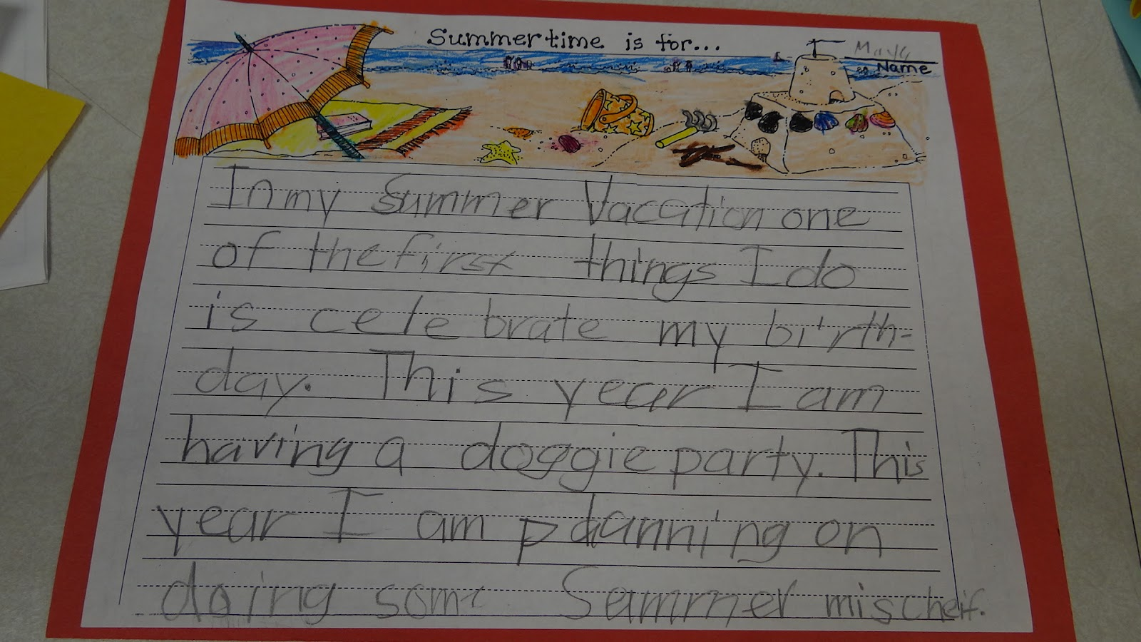 patties classroom  we a few stories about summer and summer vacations to get some ideas