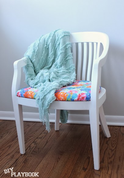 Finished! Reupholstered Chair DIY using Milk Paint | DIY Playbook