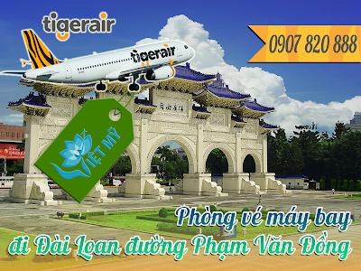 Phòng vé máy bay đi Đài Loan đường Phạm Văn Đồng