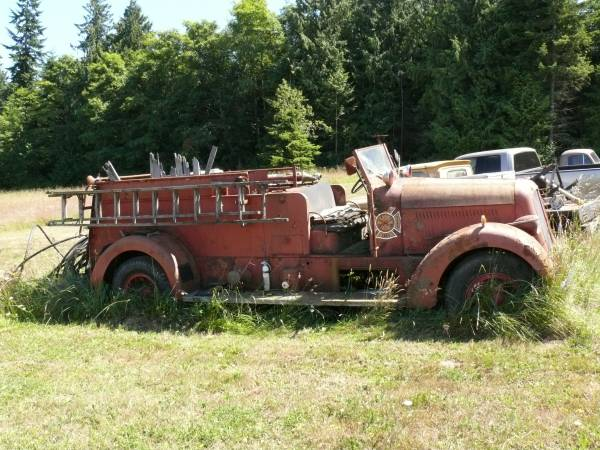restoration project cars  1942 seagrave fire truck rat rod