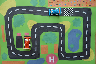 Racing car play mat