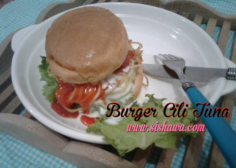Resepi Burger Cili Tuna jenama Ayam Brand