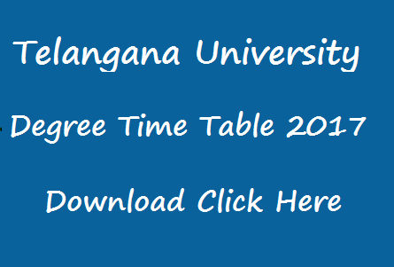 tu degree exam time table 2017 manabadi