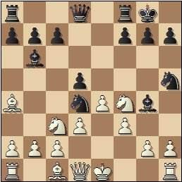 Partida de ajedrez Esteban Canal vs. Rafael Llorens, posición después de 10…Ch5!?, Barcelona 1936