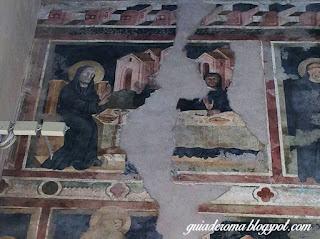 Scolastica afresco sao bento bencao calice - O Monastério de Santa Escolástica - bate e volta a partir de Roma
