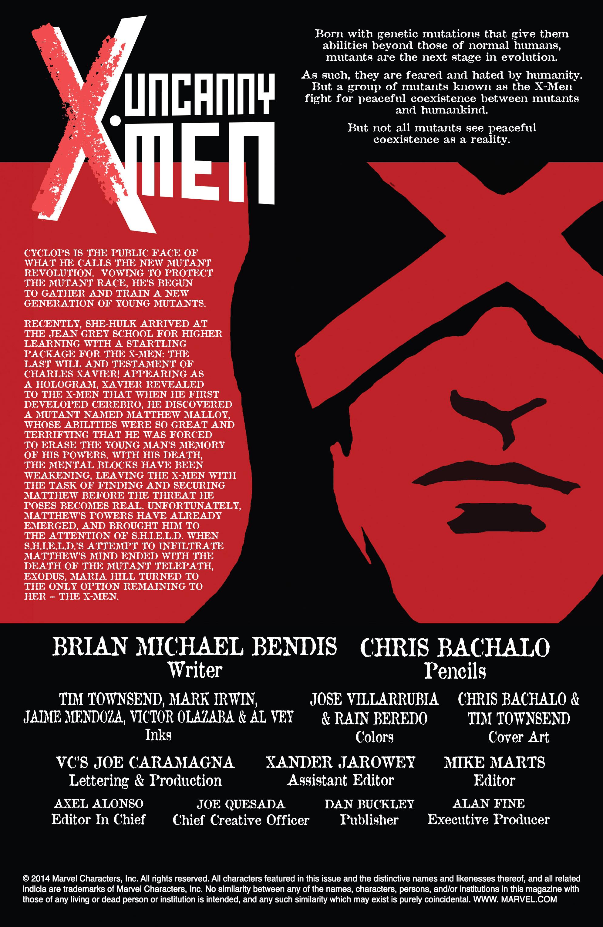 Read online Uncanny X-Men (2013) comic -  Issue #27 - 2