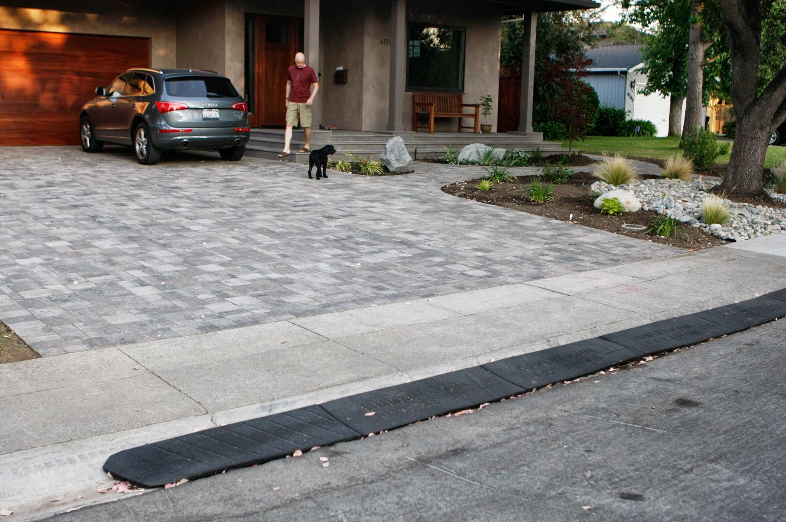 A Quick And Easy Driveway Thumbs Up For The Rubber Bridjit Curb Ramp