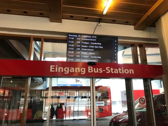 スイス・アデルボーデンのバスターミナル
