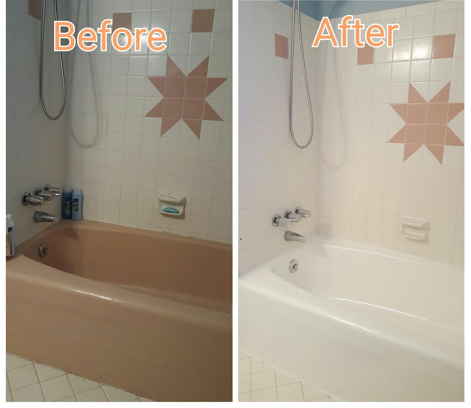 girl vs house rub a dub dub i painted my pink tub. Black Bedroom Furniture Sets. Home Design Ideas