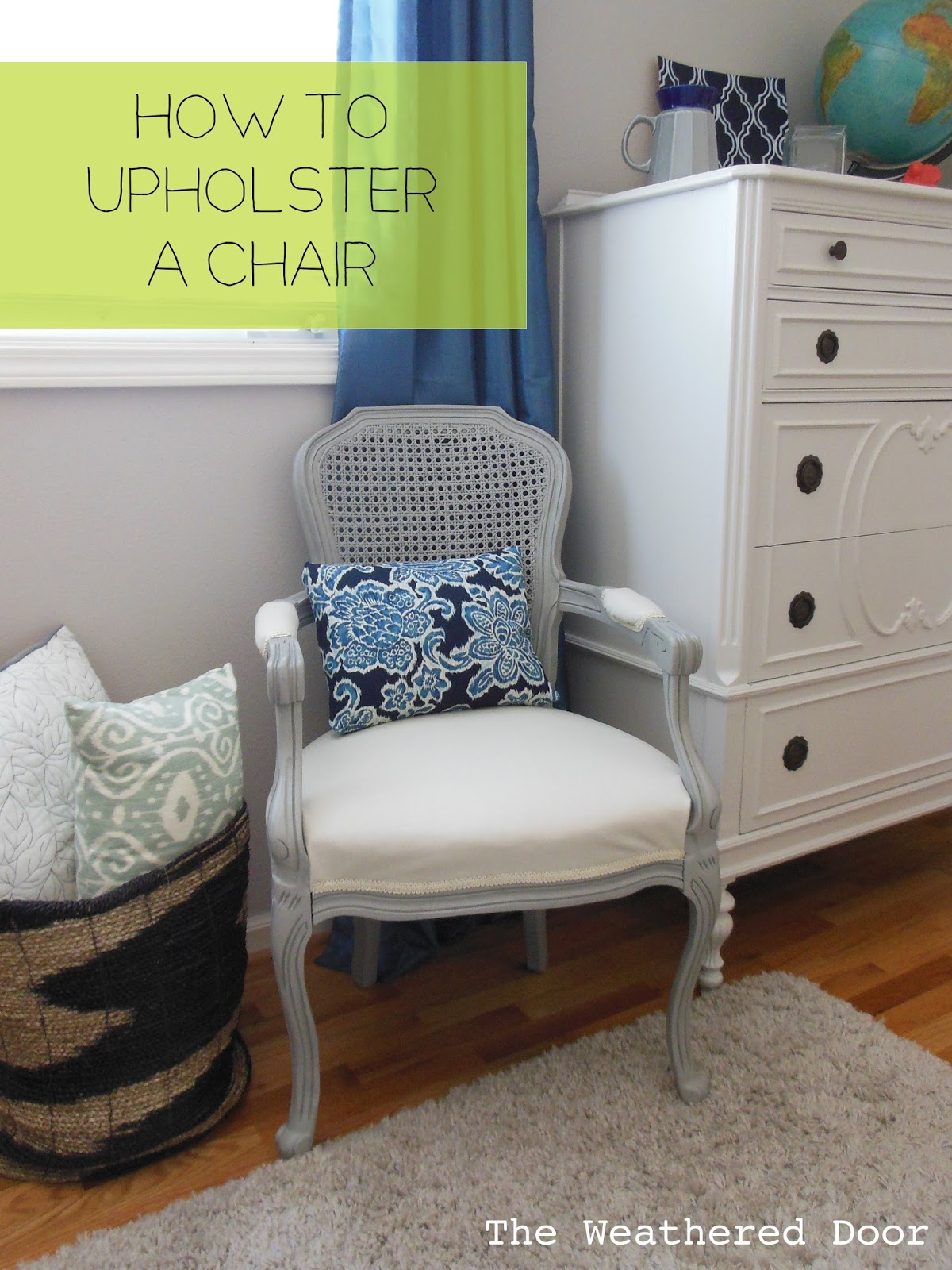 I shared this french cane back chair yesterday, and now I am sharing  details of how I went about upholstering it. As I mentioned in the last  post, ...