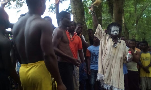 Residents of Akwadum manhandle fetish priest over failed charms