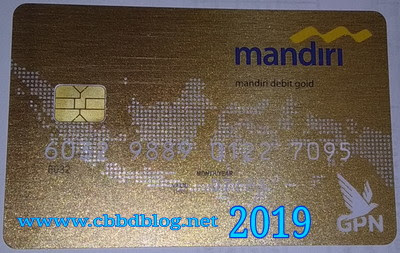 atm mandiri gold dengan chip terbaru 2019