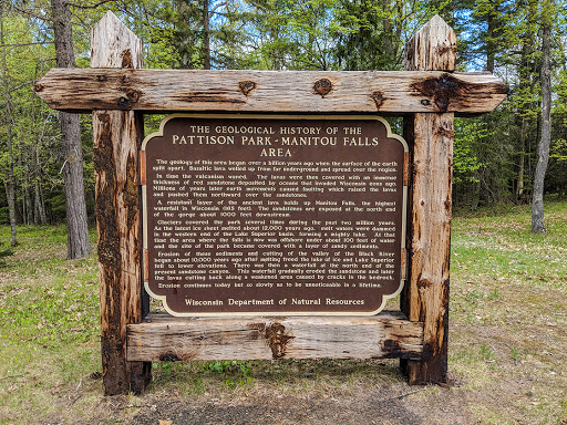 Dedication at Pattison State Park