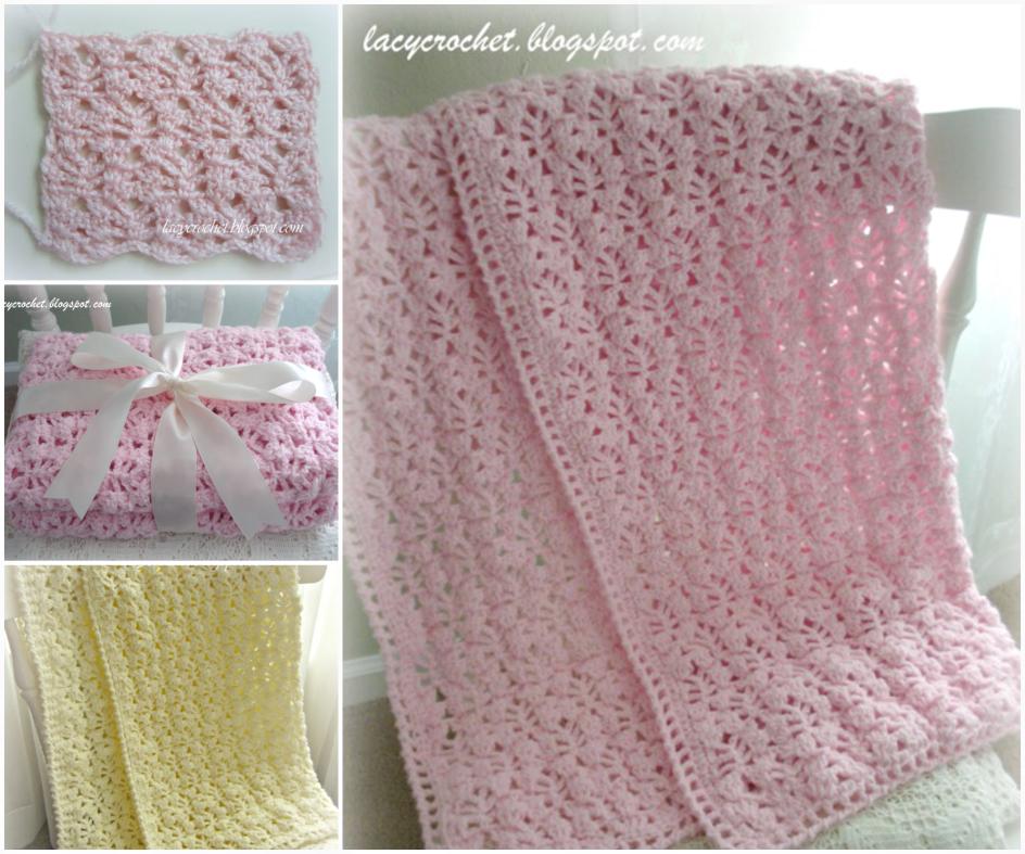 Lacy Crochet Lacy Baby Blanket Tutorial
