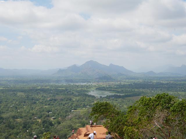 Views from the top of Sigiriya rock, Sri Lanka