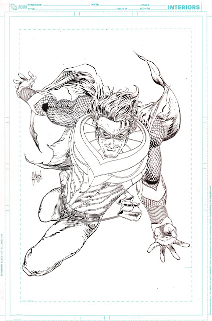 Making of a cover: TALON #0 by Guillem March