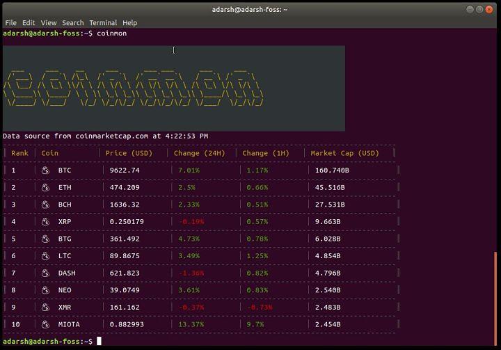 Cómo comprobar los precios del Bitcoin y otras criptomonedas desde la terminal