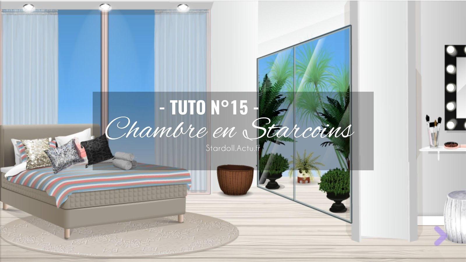 stardoll actu tuto n 15 chambre en starcoins concours deco. Black Bedroom Furniture Sets. Home Design Ideas