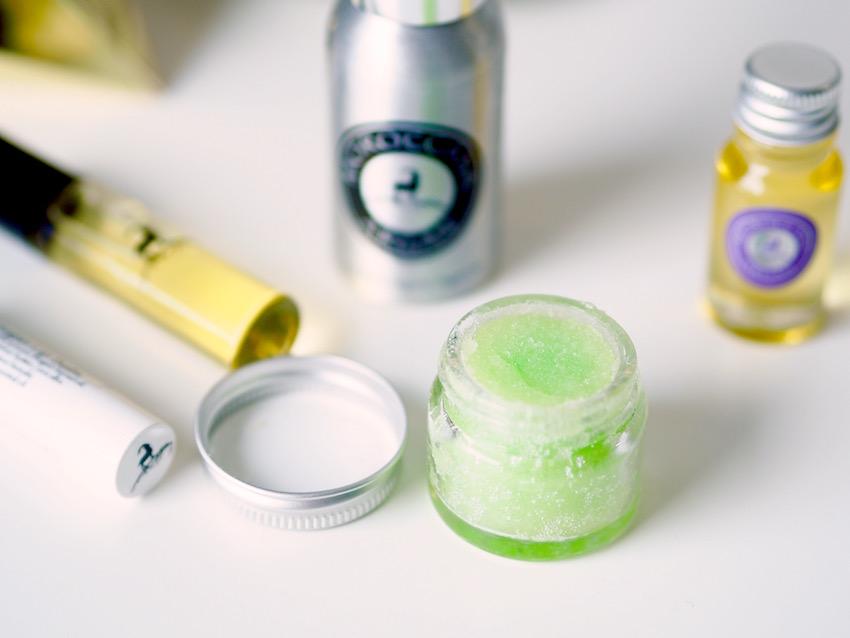 Moroccana Argan Oil verbena lip scrub