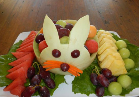 fruit salad decorations ~ easy arts and crafts ideas