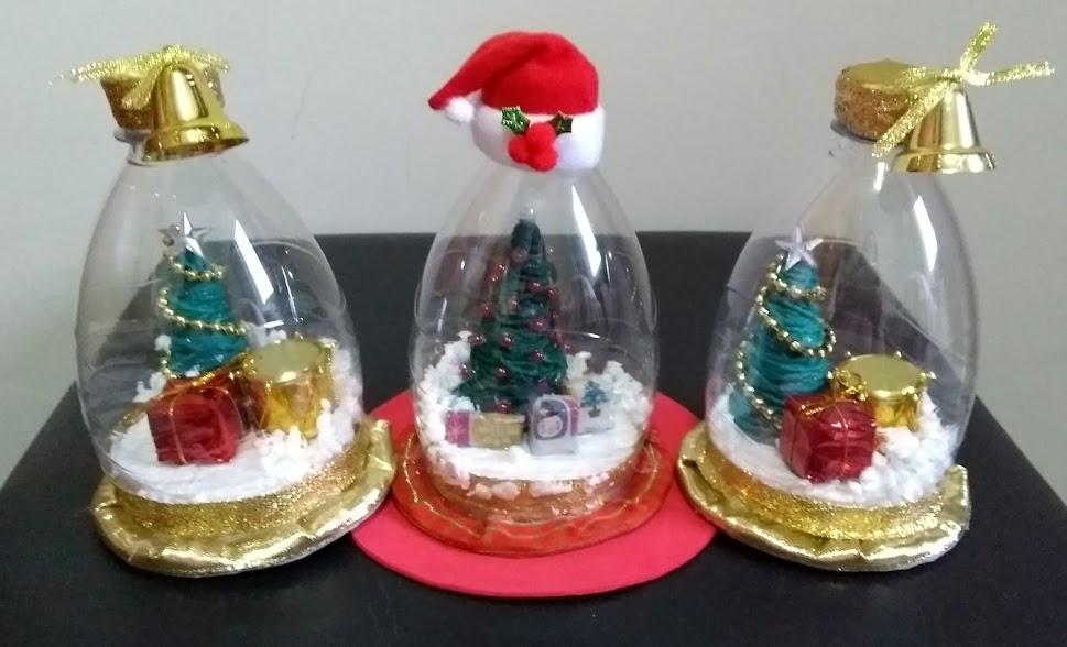 Artesanato De Natal Com Garrafa Pet ~ Coisinhas da Kika Artesanato e Dicas ENFEITE DE NATAL TIPO GLOBO
