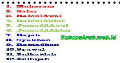 Bahasa arab nama-nama bulan hijriyah