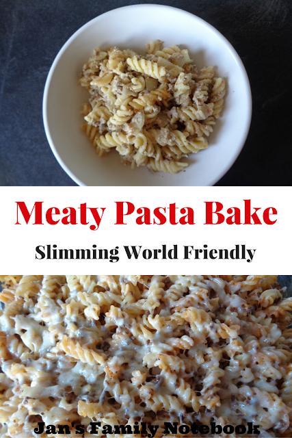 Meaty Pasta Bake Slimming World Friendly