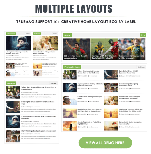 True Mag Multiple layouts