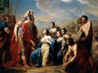 Rainha de Sabá diante do Rei - Johann Tischbein