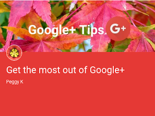 Peggy K's Get the most out of Google+ Collection