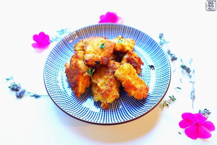 Cuisine - Recette Poulet-Panure-Thym Frais-Parmesan - Le Chameau Bleu Blog Cuisine et voyage