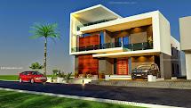 3d Front Beautiful Pakistani 1 Kanal Modern