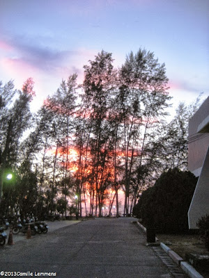 Sunset at Nathon hospital