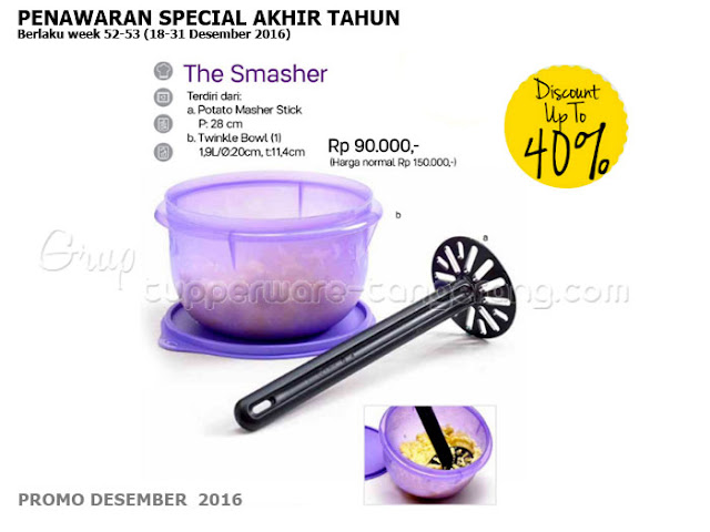The Smasher Promo Tupperware Desember 2016