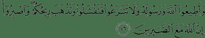 Surat Al Anfal Ayat 46
